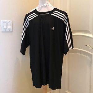 NWOT Adidas knit black & white shirt